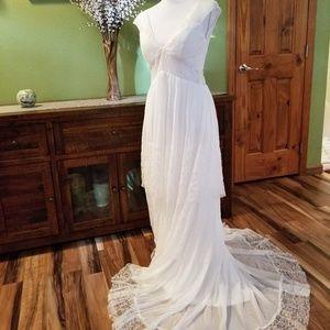 Dresses & Skirts - Custom made White Wedding Dress Size 4